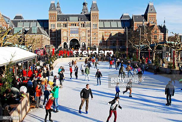 Skating in the Museum Ice Rink