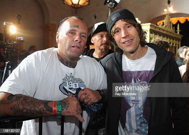 Skating Legends Jay Adams and Rodney Mullen attends the To The Maxx Screening Bones Brigade An Autobiography held at the Arlington Theatre on...