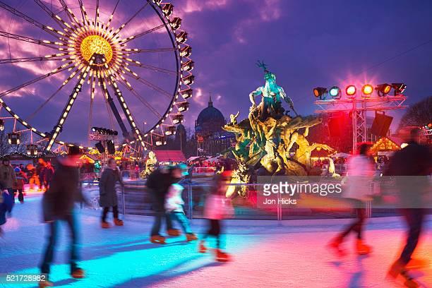 Skating rink at Alexanderplatz Christmas market