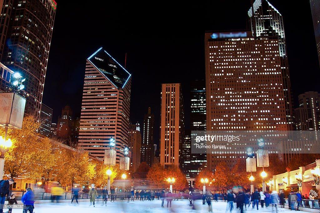 Skating Rink at night : Stock Photo