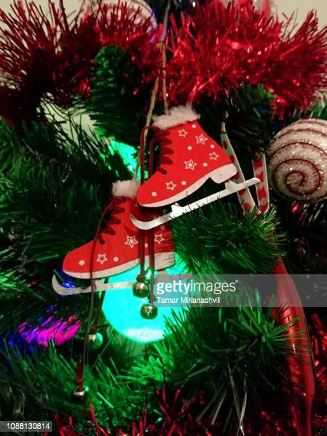 Skating shoes on Christmas Tree