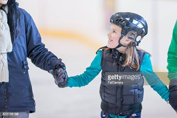 Skating Together at the Ice Rink