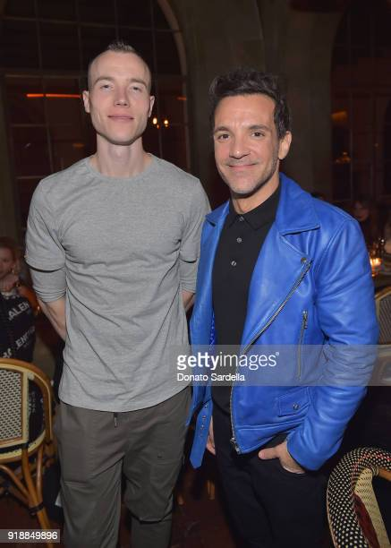 """Skee and George Kotsiopoulos attend a dinner hosted by Saks Fifth Avenue and Anthony Davis at Chateau Marmont to celebrate the latest """"SAKS FIFTH..."""