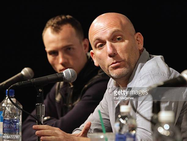 Skee and Steve Rifkind speak onstage at 'YouTube New Breeding Ground for Music's Future' during the 2014 SXSW Music Film Interactive at Austin...