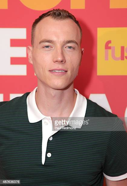 Skee arriving at FUSE Sunset Cocktail Party at The Beverly Hilton Hotel on July 31, 2015 in Beverly Hills, California.