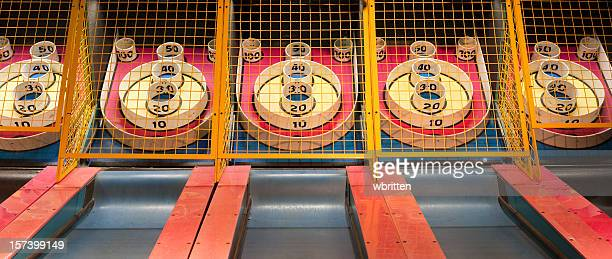 skee ball panorama (xxl) - traveling carnival stock pictures, royalty-free photos & images