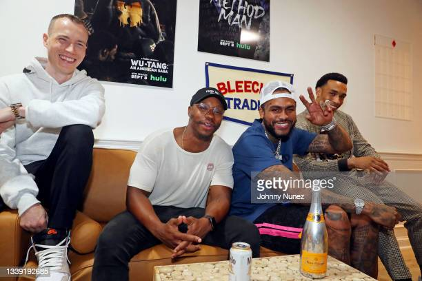 Skee, Marcus Callender, Dave East, and Julian Elijah Martinez attend the Wu-Tang: An American Saga Season 2 Premiere Watch Party with DJ SKEE at...