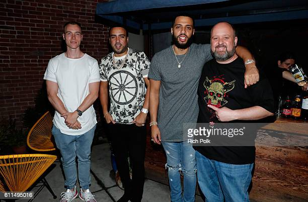 DJ Skee rapper French Montana guest and Aaron Greenberg General Manager Xbox Games Marketing attend the Nas Todd Gurley and LA Rams Host Xbox Gears...