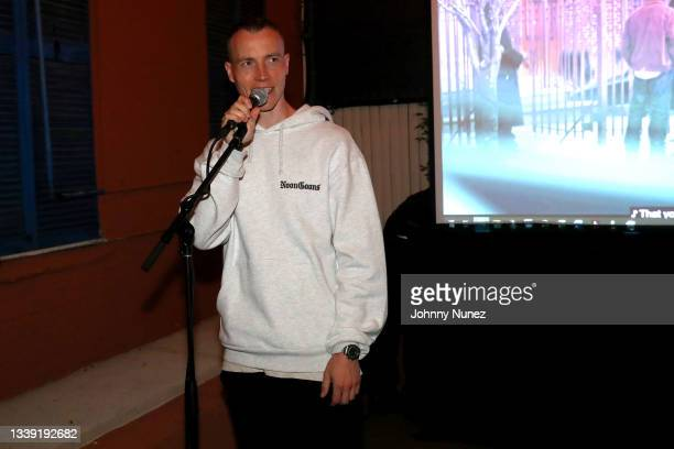 Skee speaks during the Wu-Tang: An American Saga Season 2 Premiere Watch Party with DJ SKEE at Bleeker Trading on September 08, 2021 in New York City.