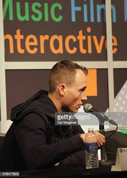 Skee speaks onstage at 'YouTube New Breeding Ground for Music's Future' during the 2014 SXSW Music Film Interactive at Austin Convention Center on...