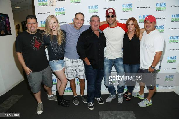 Skeery Jones Bethany Watson Froggy Elvis Duran Enrique Iglesias Danielle Monaro and Greg T at The Elvis Duran Z100 Morning Show at Z100 Studio on...