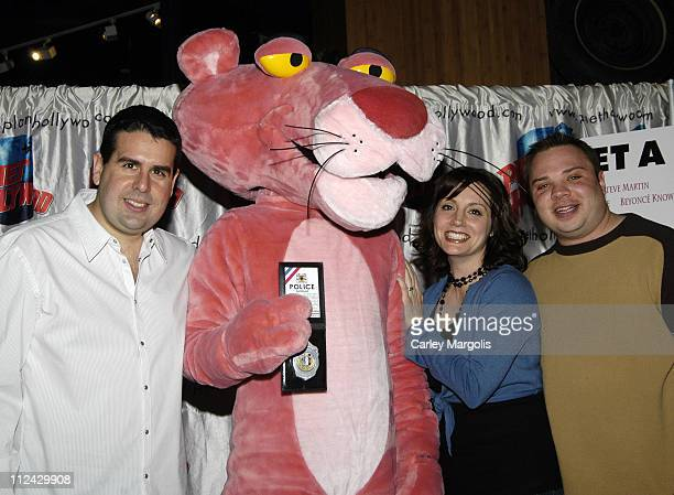 Skeery Jones Danielle Monaro and Greg T of Z100 with The Pink Panther
