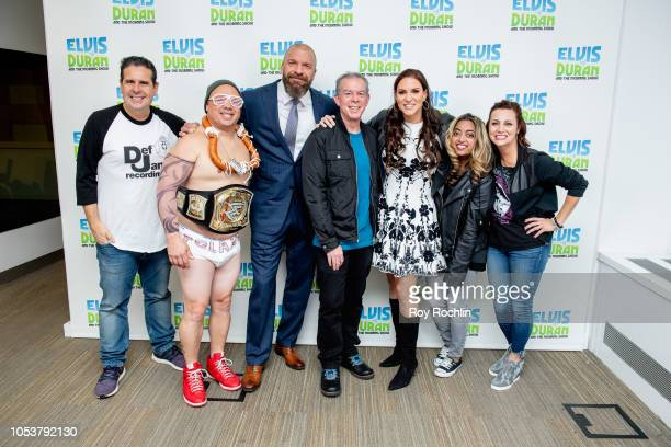 Skeery Jones Gerg T aka The Polish Pounder Triple H Elvis Duran Stephanie McMahon Medha Gandhi and Danielle Monaro as Triple H and Stephanie McMahon...