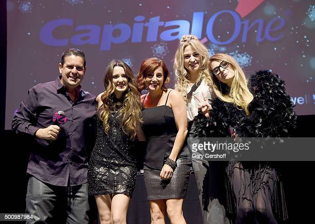Skeery Jones Laura Marano Danielle Monaro Bethany Watson and Erica America Hayden pose onstage at Z100's Jingle Ball 2015 Z100 CocaCola All Access...