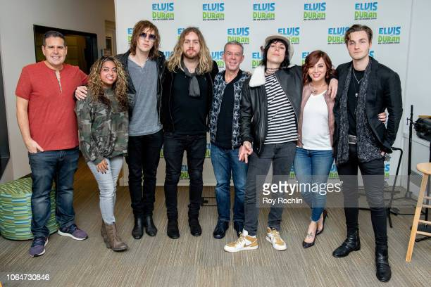 Skeery Jones Medha Gandhi Gethin Davies Luke Spiller Elvis Duran Adam Slack Danielle Monaro and Jed Elliott as The Struts visit the Elvis Duran show...