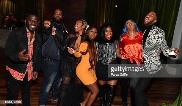 Skeet Carter Darren Brand Azia Jessie Woo Mary Mz Skittlez Seats That Girl Jay and Kendall Kyndall attend 2018 BET Social Awards Dinner at TWELVE...