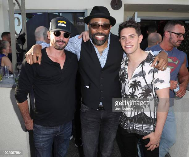 Skeet Ulrich Cress Williams and Casey Cott attend BuzzFeed Presents SPELLS SPIRITS Conjured By The CW Charmed at Altitude Sky Lounge on July 20 2018...