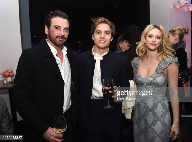Skeet Ulrich Dylan Sprouse and Lili Reinhart attend the after party for the premiere of CBS Films' Five Feet Apart at STK Westwood on March 07 2019...