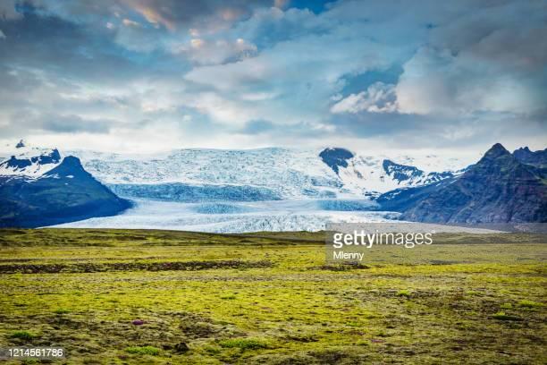 skeidarajökull glacier tongue iceland skeidarajökull vatnajokull - lava plain stock pictures, royalty-free photos & images