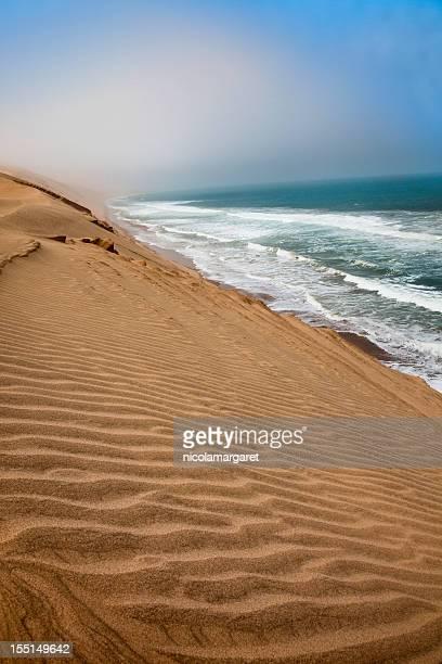 skeleton coast, namibia - walvis bay stock photos and pictures