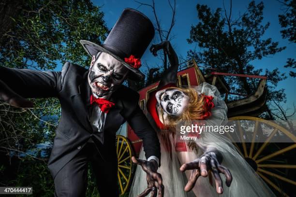 Skeleton Horror Wedding Couple Halloween