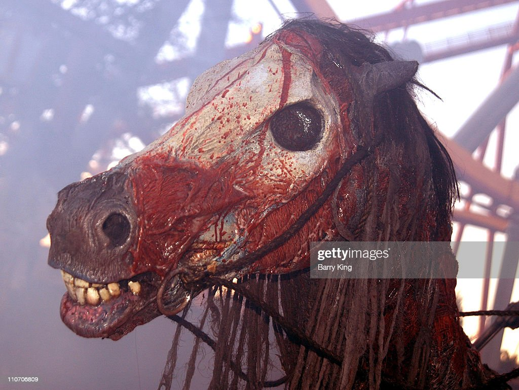 skeleton horse during knott's scary farm's 34th annual halloween