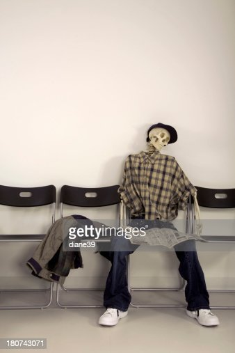 Free Image Skeleton Waiting Room