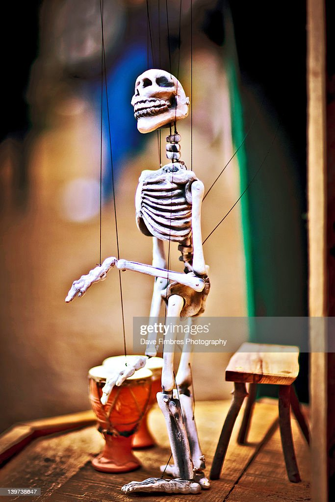 skeleton marionette dancing stock photo getty images