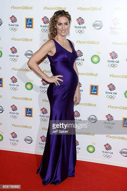 Skeleton racer Amy Williams attends the Team GB Ball at Battersea Evolution on November 30 2016 in London England