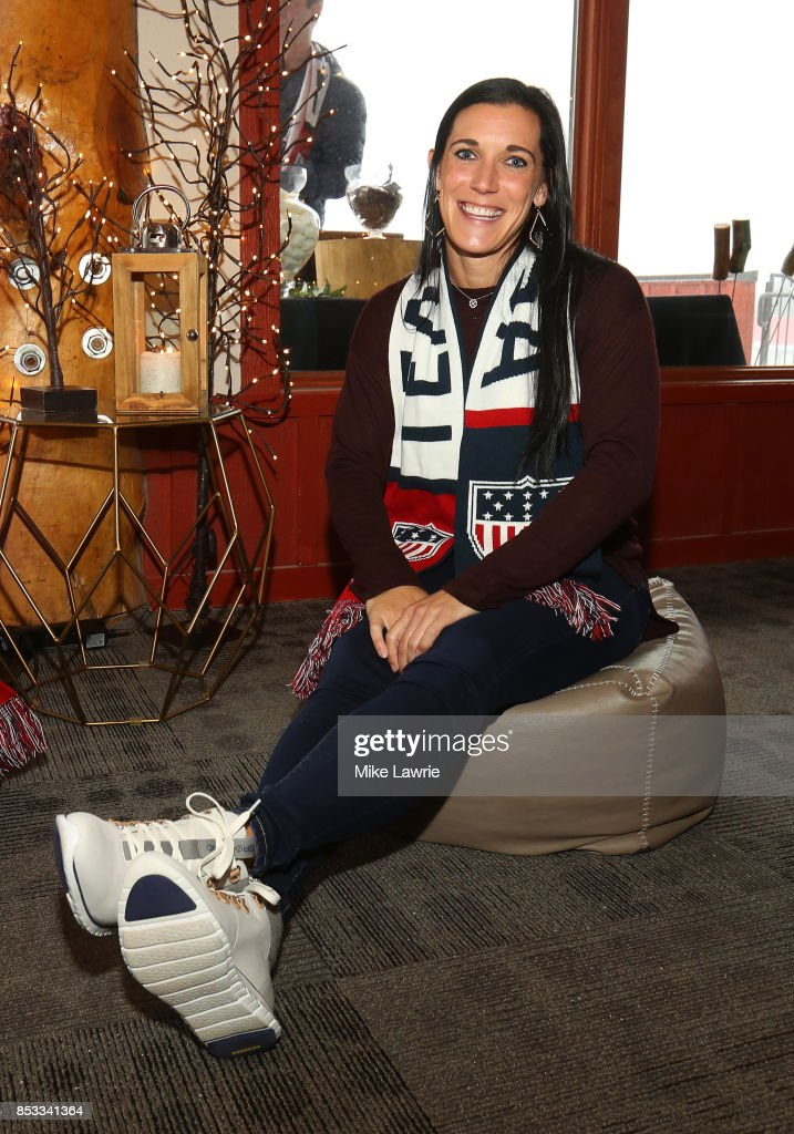 Skeleton racer Annie O'Shea attends the Team USA Media Summit opening reception at the Red Pine Lodge on September 24, 2017 in Park City, Utah.