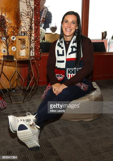 Skeleton racer Annie O'Shea attends the Team USA Media Summit opening reception at the Red Pine Lodge on September 24 2017 in Park City Utah