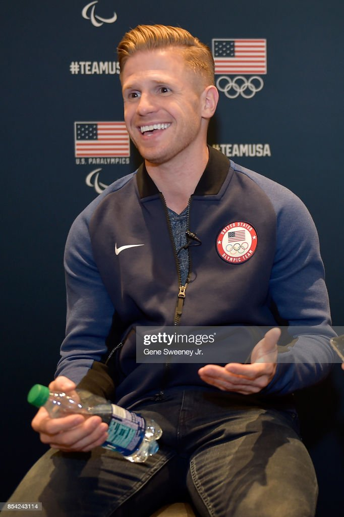 Skeleton racer John Daly addresses the media during the Team USA Media Summit ahead of the PyeongChang 2018 Olympic Winter Games on September 25, 2017 in Park City, Utah.