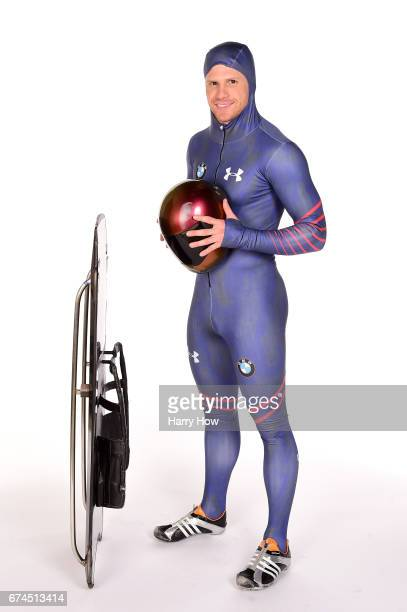 Skeleton racer John Daly poses for a portrait during the Team USA PyeongChang 2018 Winter Olympics portraits on April 28 2017 in West Hollywood...