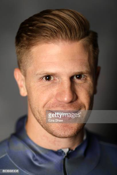 Skeleton racer John Daly poses for a portrait during the Team USA Media Summit ahead of the PyeongChang 2018 Olympic Winter Games on September 25...
