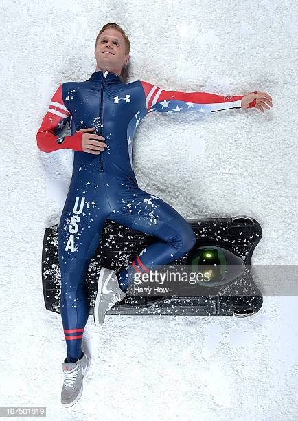 Skeleton racer John Daly poses for a portrait during the USOC Portrait Shoot on April 25 2013 in West Hollywood California