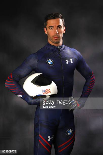 Skeleton racer Matt Antoine poses for a portrait during the Team USA Media Summit ahead of the PyeongChang 2018 Olympic Winter Games on September 25...
