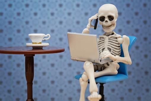Skeleton working day 857281576