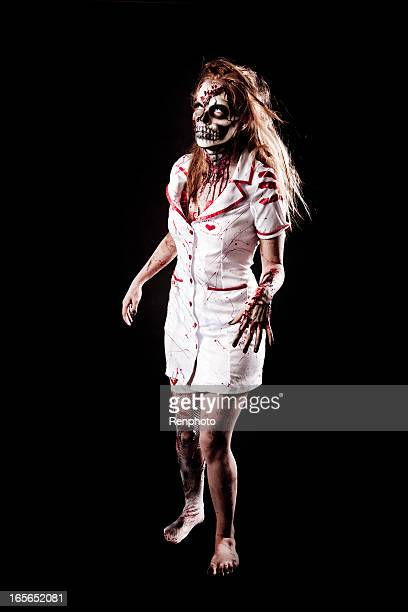 skeleton zombie - nurse mask stock pictures, royalty-free photos & images