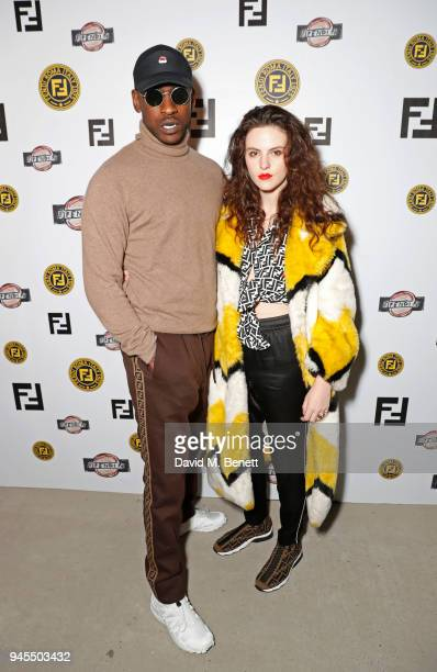 Skepta and Daisy Maybe attend the FENDI FF Reloaded Experience on April 12 2018 in London England