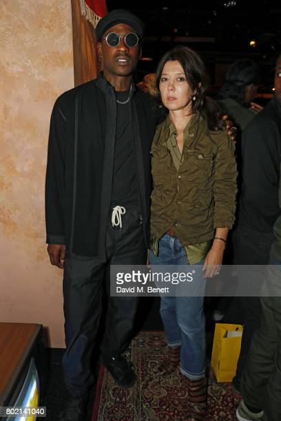 Skepta and Katy England attend the launch of Skepta's new fashion label 'Mains' at Selfridges on June 27 2017 in London England