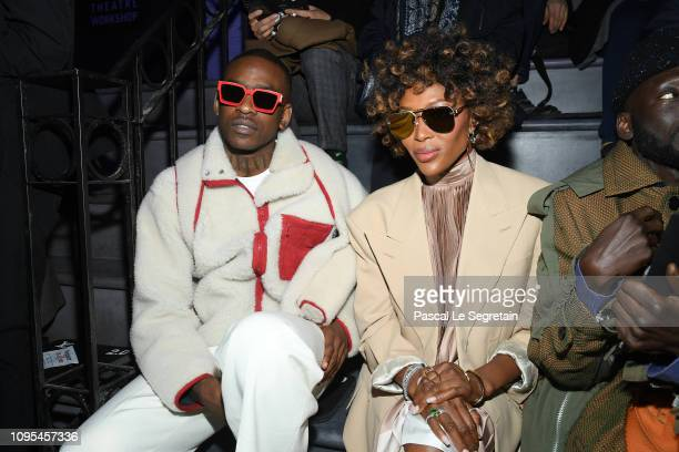 Skepta and Naomi Campbell attend the Louis Vuitton Menswear Fall/Winter 20192020 show as part of Paris Fashion Week on January 17 2019 in Paris France
