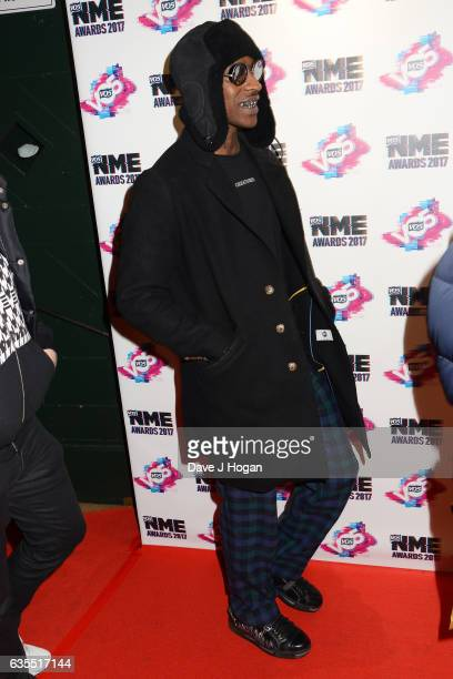 Skepta arrives at the VO5 NME awards 2017 on February 15 2017 in London United Kingdom