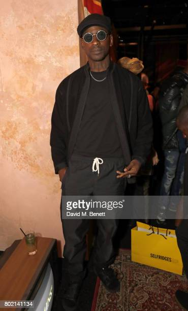 Skepta attends the launch of Skepta's new fashion label 'Mains' at Selfridges on June 27 2017 in London England