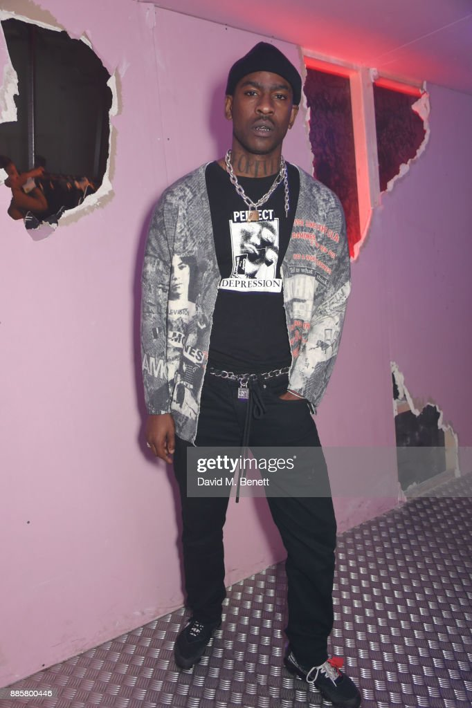 Skepta attends the Off-White x Dazed Fashion Awards after party at RUIN, 180 The Strand, on December 4, 2017 in London, England.