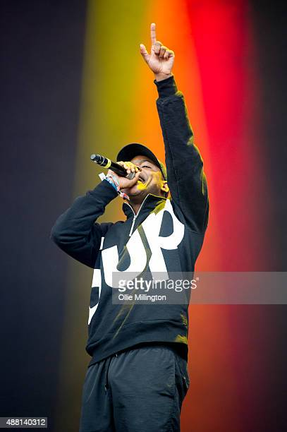 Skepta of Brittish Grime collective Boy Better Know performs onstage during the day time Boy Better Know showcase on the main stage during day 3 of...