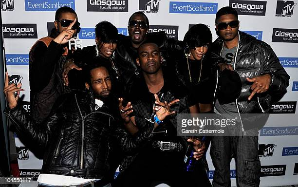 Skepta P Diddy Kaleena and Dawn Richard of DiddyDirty Money pose at the MTV Crashes Glasgow after party at The Corinthian on September 29 2010 in...