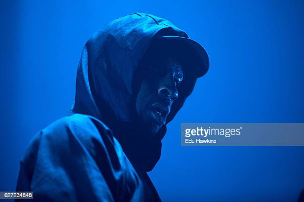 Skepta performs at Alexandra Palace on December 2 2016 in London England