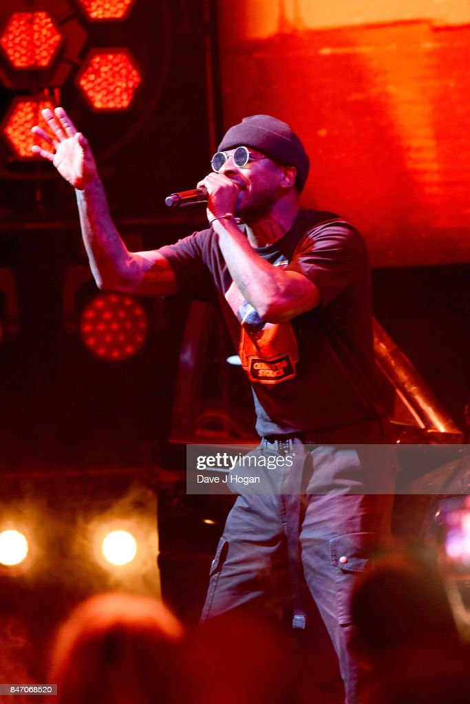 Skepta performs at the Hyundai Mercury Prize 2017 at Eventim Apollo on September 14, 2017 in London, England.