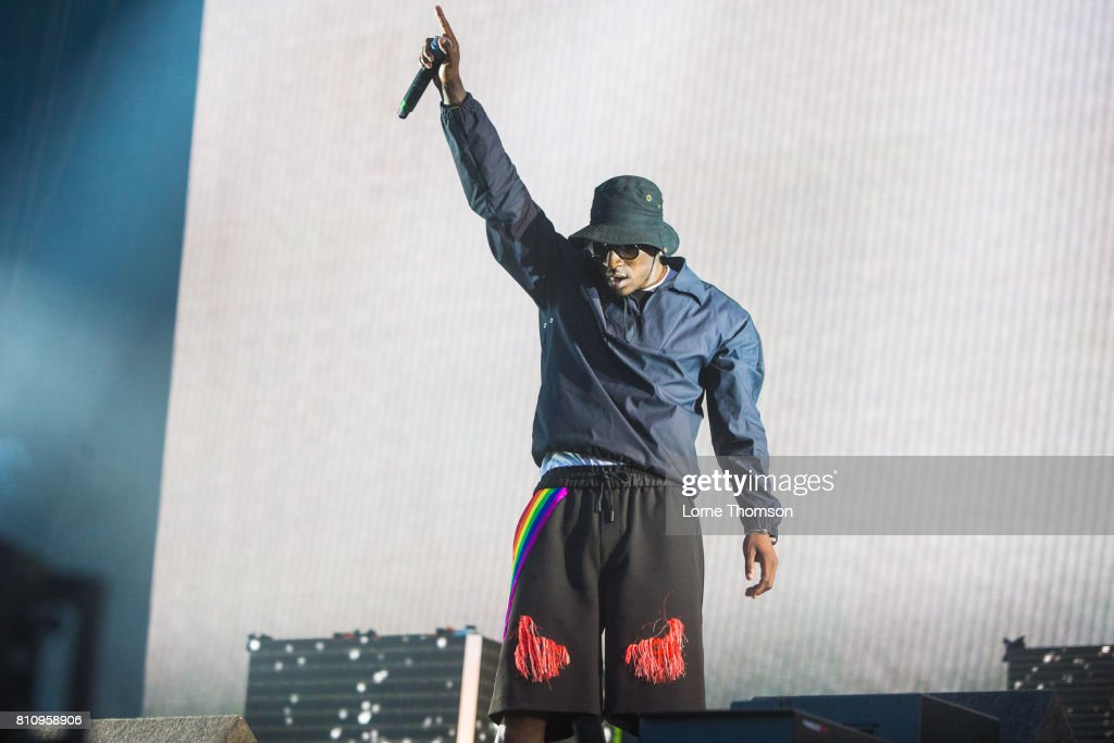 Skepta performs at Wireless Festival Day 2 at Finsbury Park on July 8, 2017 in London, England.