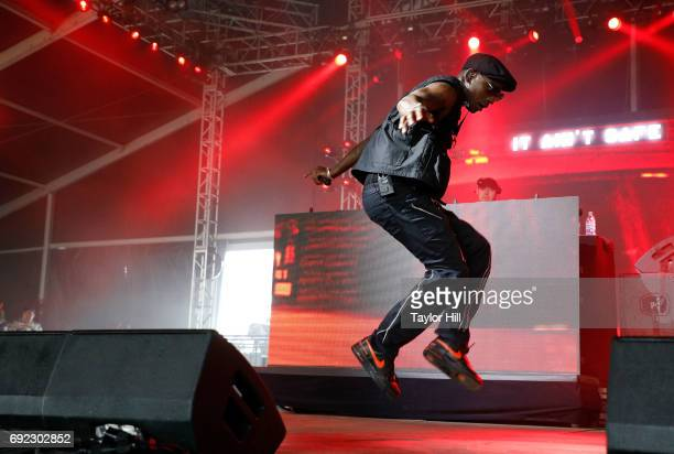 Skepta performs live onstage during 2017 Governors Ball Music Festival Day 3 at Randall's Island on June 4 2017 in New York City